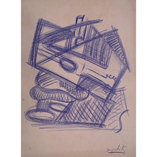 Very Rare Jacques Lipchitz Sketch c1922