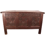 Wonderful c1630 Jacobean Carved Blanket Chest Coffer