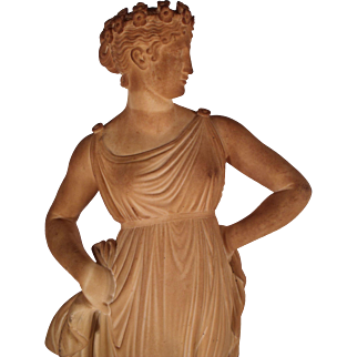 "Lovely Marble Sculpture  c1860,  American copy of  ""Flora"" by Antonio Canova"