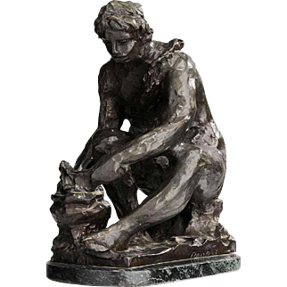 Fine Antique c1916 Bronze Sculpture by Pierre-Auguste Renoir