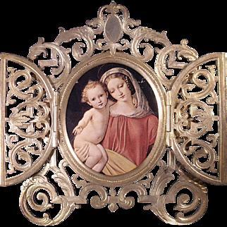 Lovely Fine c1860 French Alphonse Giroux Gilt Bronze Picture Frame