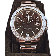 Stunning Panerai Luminor Marina Automatic 2 1/2+ cttw Diamonds