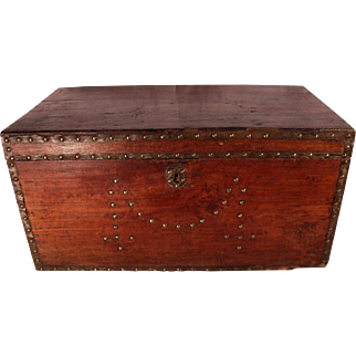 Patrick Swayze Owned Antique Wood Equestrian Chest, PROVENANCE