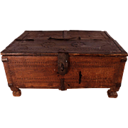 SOLD! Patrick Swayze Owned Antique 18th Century Indian Dowry Box (M), PROVENANCE