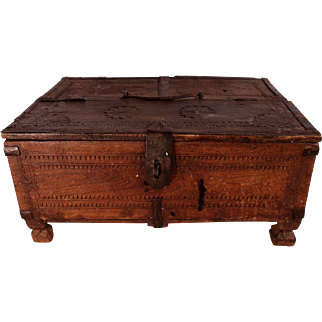 Patrick Swayze Owned Antique 18th Century Indian Dowry Box (M), PROVENANCE