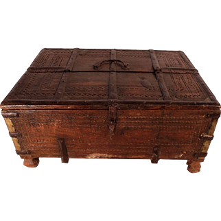 Patrick Swayze Owned Antique 18th Century Indian Dowry Box (L), PROVENANCE