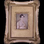 Important c1760 Miniature Painting Attributed to Luis Paret y Alcázar (1746-1799)