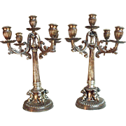 "Gene Roddenberry ""Star Trek"" Owned Antique c1840's Coin Silver Candelabra's"