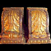 Fantastic Pair of Huge Antique Wood Corbel Brackets c1885