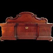 Very Rare Miniature English Rococo Revival Sideboard Tea Caddy c1820