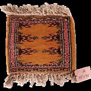 Vintage Miniature Handmade Pakistani Wool Rug #A