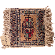 HOLD FOR ROBYN Vintage Miniature Handmade Pakistani Wool Rug #M