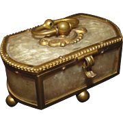 Charming small Antique c1850 TAHAN Bronze Table Box