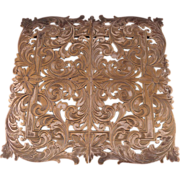 Large Silver Plate Expanding Trivet Stand by E. G. Webster & Son, Brooklyn, NY