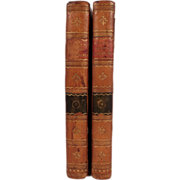 "Antique Set of Books: ""Clavis Calendaria or a Compendius Analysis of the Calendar"" by John Brady, 1812"