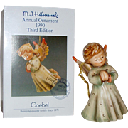 "M.I. Hummel 1990 Annual Ornament ""Peace on Earth"" Figurine ~ HUM484 ~ TMK6"