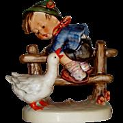 "Vintage M.I. Hummel ""Barnyard Hero"" Figurine ~ HUM195/2/0 ~ CE ~ TMK5 ~ CV between $230 - $250"