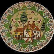 Royal Doulton Sampler Seriesware Country Scene Plate - D3749 - ca.1924-1936