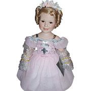"The Shirley Temple ""Ballerina"" Porcelain Doll ~ Danbury Mint ~ 17"" ~ Complete with Original Box and Stand"