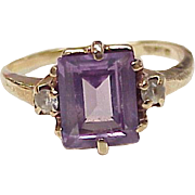 Vintage Alexandrite & Spinel Ring 10K Rose Gold circa 1930's