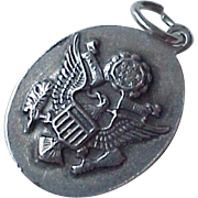 US Air Force Vintage Military Charm Sterling Silver circa 1940's
