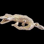 Vintage Alligator Charm 14K Gold Three Dimensional circa 1960's