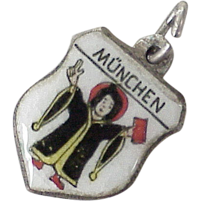 vintage travel charm m nchen munich germany colorful enamel 800 from acharmedlife on ruby lane. Black Bedroom Furniture Sets. Home Design Ideas