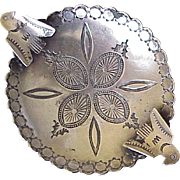 Native American Crafted Ashtray Sterling Silver Circa 1950-60's