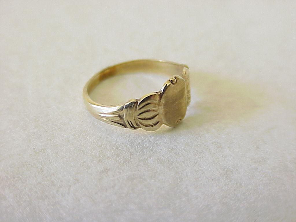 Vintage Baby Ring 10k Gold Size 0 From Acharmedlife On