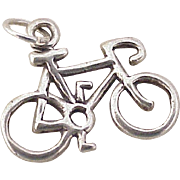 Vintage 10 Speed Bicycle Charm Sterling Silver circa 1980's
