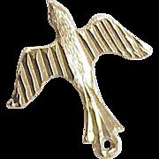 Vintage Flying BIRD Charm 14K Gold Circa 1970's