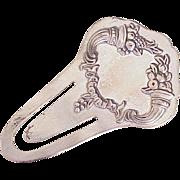 Sterling Silver Bookmark by Reed & Barton Cornucopia Design