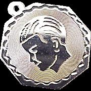 Boy Child's Profile Vintage Charm Sterling Silver circa 1960's