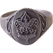 Boy Scouts Vintage Ring Sterling Silver