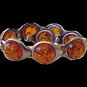 Baltic Amber Bracelet Handcrafted Sterling Silver