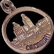 Cincinnati Skyline Vintage Charm Sterling Silver circa 1960's