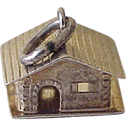 Vintage Cottage or Cabin Charm, Three Dimensional 10K Gold Circa 1950's