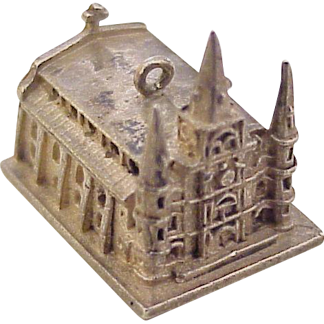 vintage st louis cathedral charm sterling silver new orleans la from acharmedlife on ruby lane. Black Bedroom Furniture Sets. Home Design Ideas