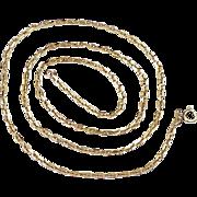 "Vintage 18K Gold Chain Necklace 22-1/2"" Length ~ 11.7 Grams, Diamond Cut Cable"