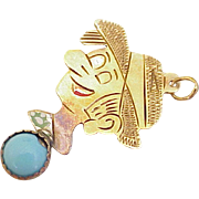 Vintage Cartoon / Comic Strip Character Charm 14K Gold circa 1950's
