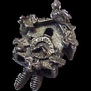 Cuckoo Clock Vintage Charm by BEAU Three Dimensional Sterling Silver
