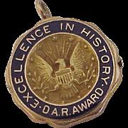 DAR 1931 Pendant / Pin 10K Gold, Daughters of the American Revolution
