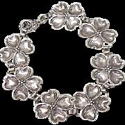 Dogwood Blossom Bracelet Sterling Silver circa 1960's