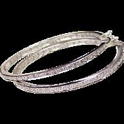 Diamond Hoop Earrings 14K White Gold .86 ctw Inside Out Design
