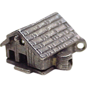Humorous Vintage Moving Sterling Silver Charm ~ Farmers Daughter, Barn Opens