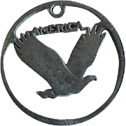 American Eagle Vintage Charm Crafted From US Coin Silver circa 1940's