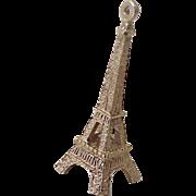 Vintage Eiffel Tower Charm 14k Gold Three Dimensional circa 1960's