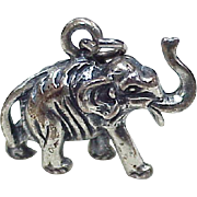 Vintage Elephant Charm Sterling Silver, BEAU circa 1950-60's