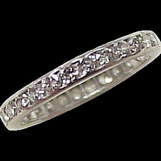 Platinum & Diamond Eternity Band 1.16 ctw Size 6