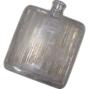 Vintage Hip Flask circa 1920-30's, Sterling Top